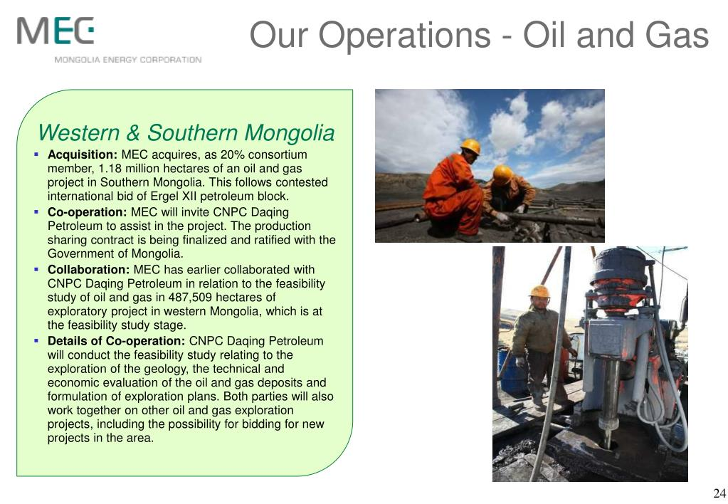 Our Operations - Oil and Gas