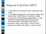 disposal cash flow dcf
