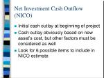 net investment cash outflow nico