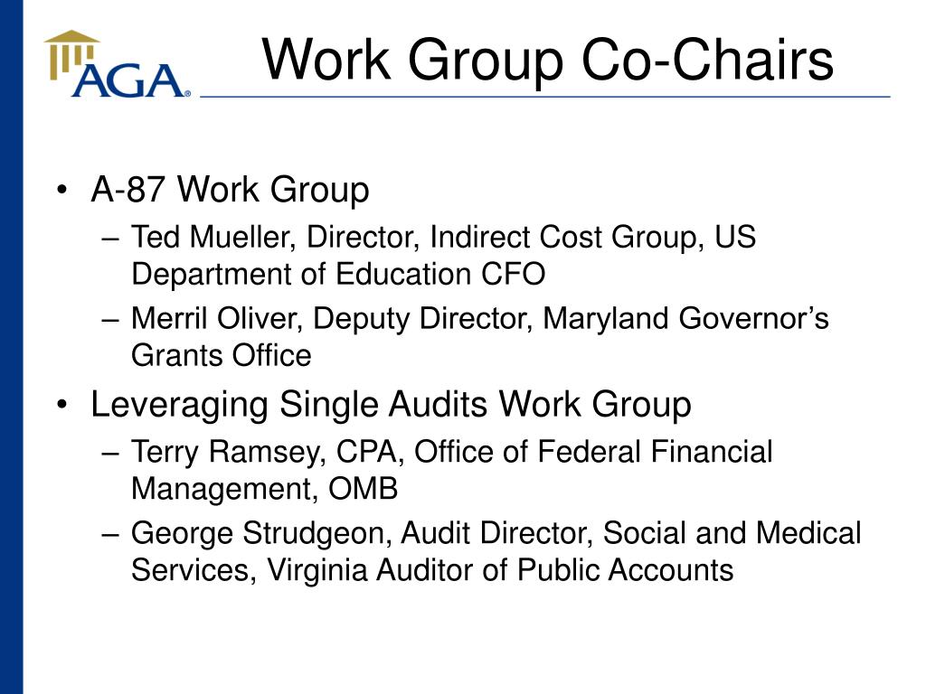 Work Group Co-Chairs