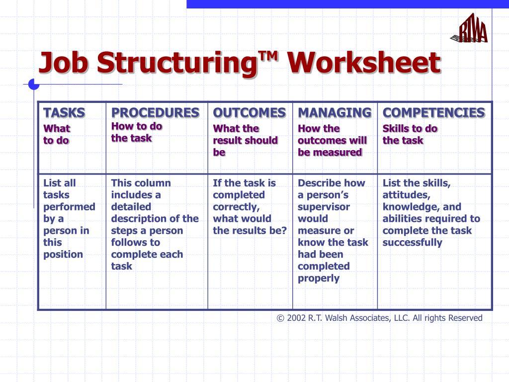 Job Structuring