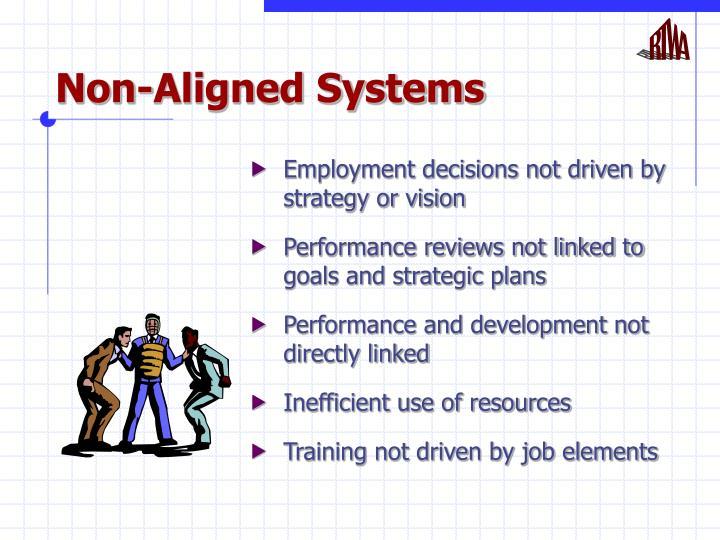 Non aligned systems