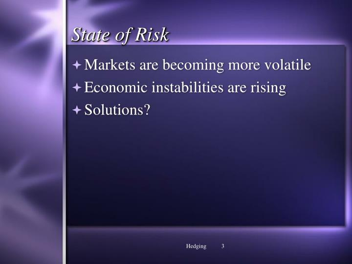 State of risk