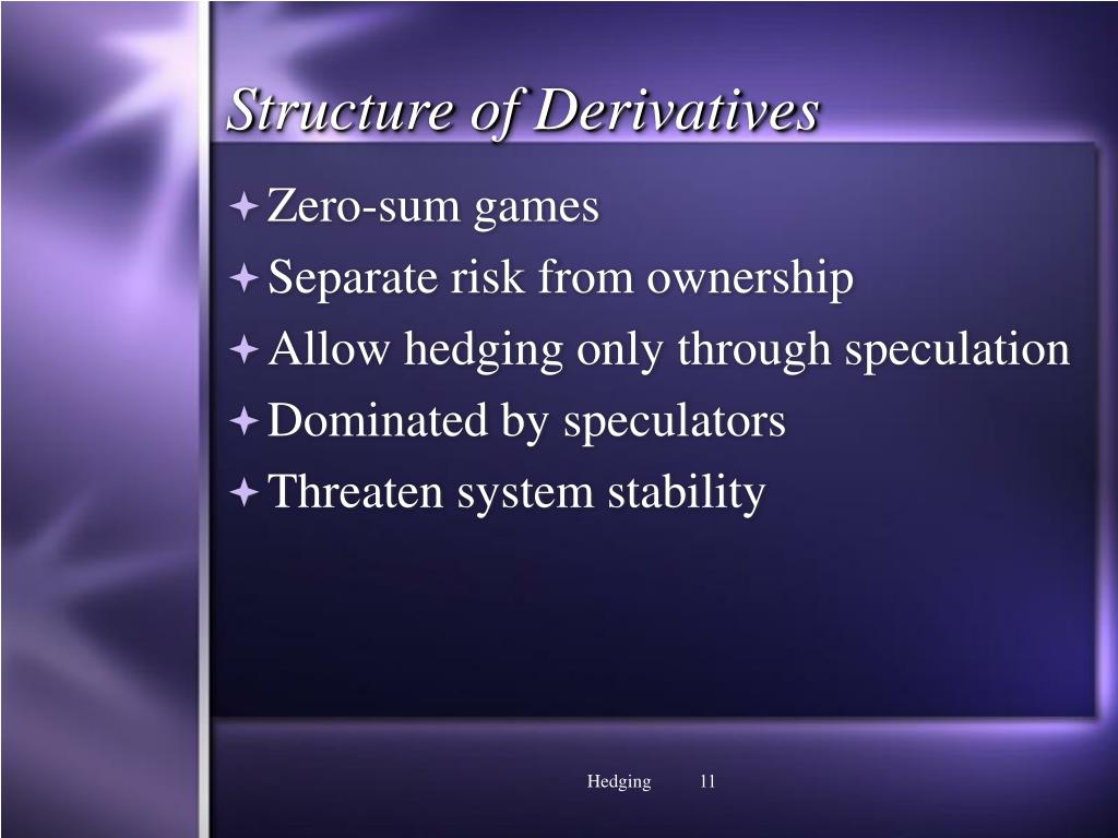 Structure of Derivatives