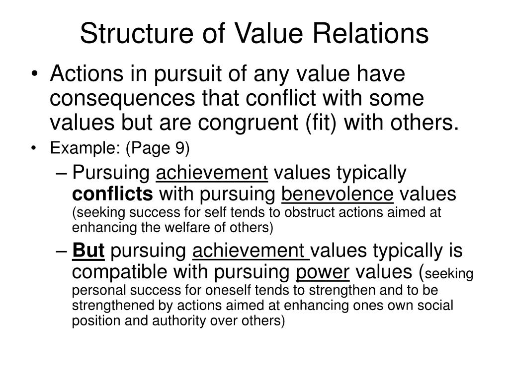 Structure of Value Relations