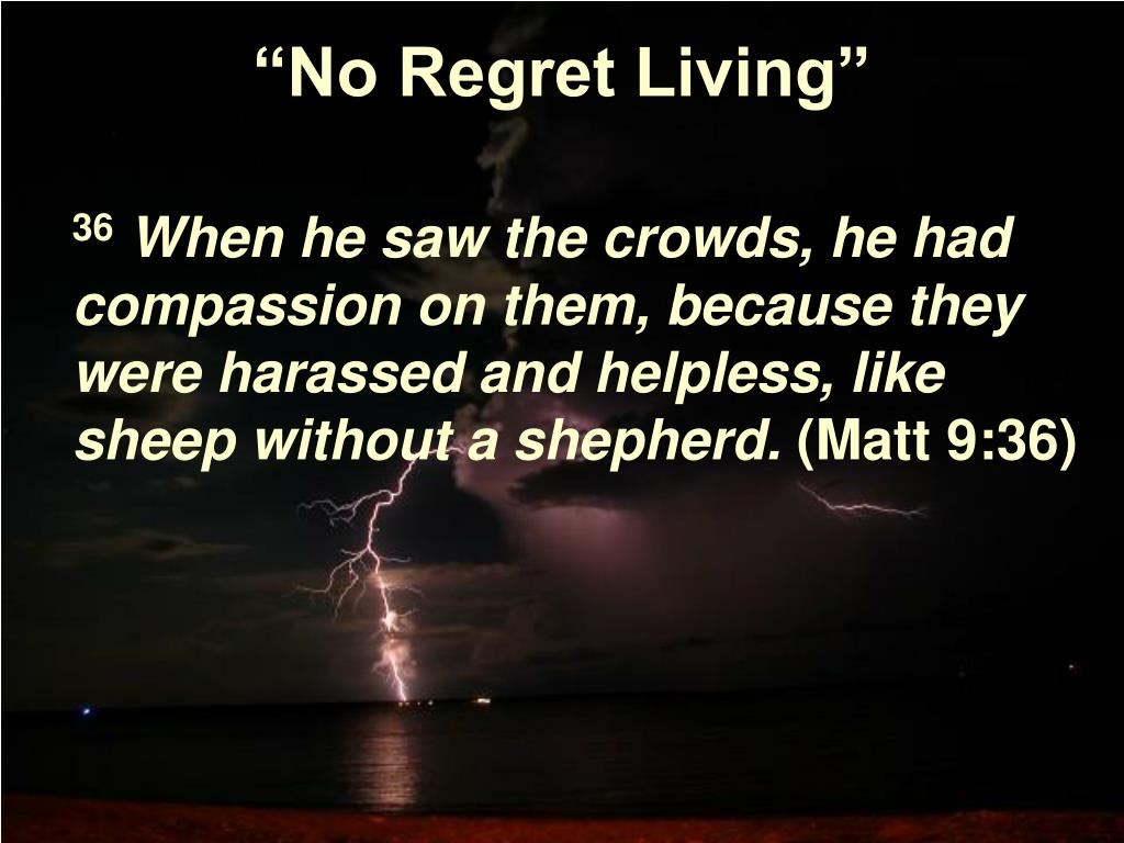 """""""No Regret Living"""""""