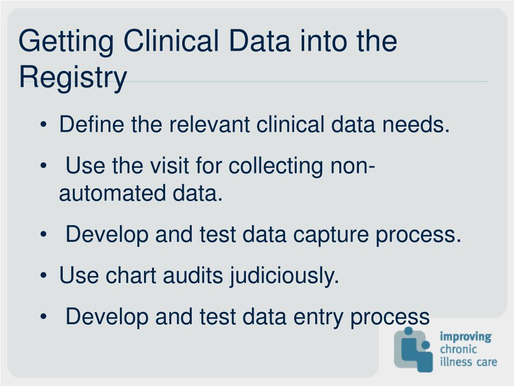 Getting Clinical Data into the Registry
