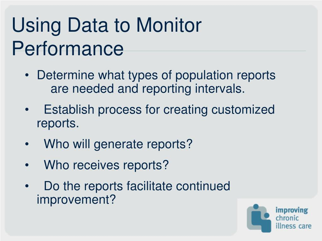 Using Data to Monitor Performance