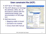 user constraint file ucf
