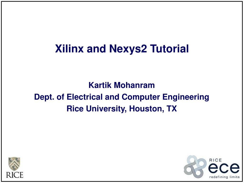 xilinx and nexys2 tutorial