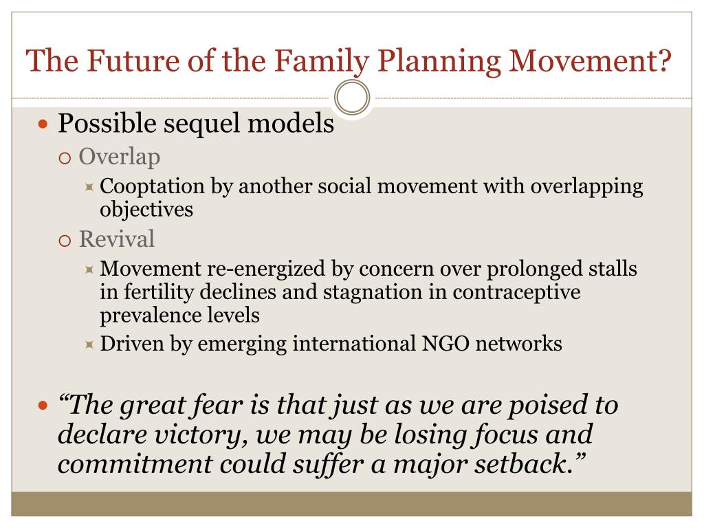 The Future of the Family Planning Movement?