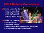 fbla national conferences