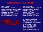 questions contact