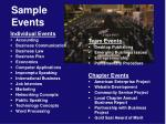 sample events