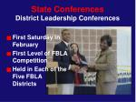 state conferences district leadership conferences