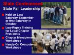 state conferences state fall leadership rally