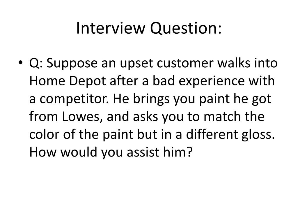 Interview Question:
