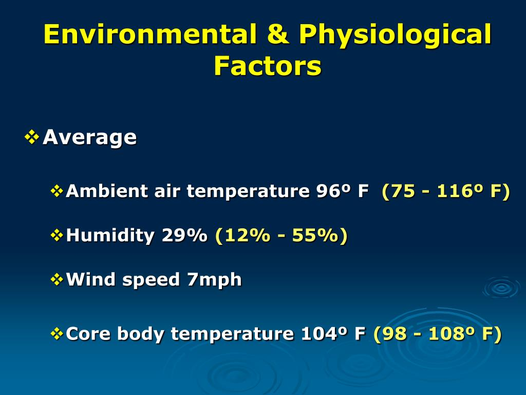 Environmental & Physiological Factors
