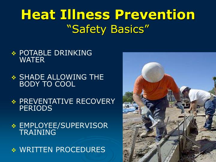 Heat illness prevention safety basics