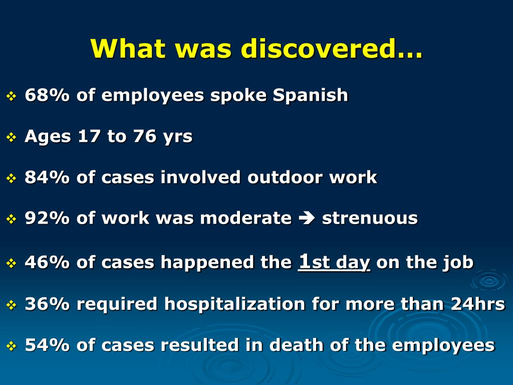 What was discovered…