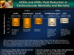 aceis and arbs yield reduction in cardiovascular morbidity and mortality