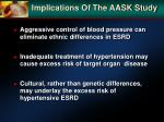 implications of the aask study