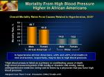 mortality from high blood pressure higher in african americans