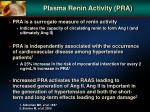plasma renin activity pra