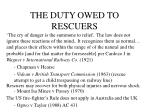 the duty owed to rescuers27