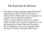 the rationale for reform31