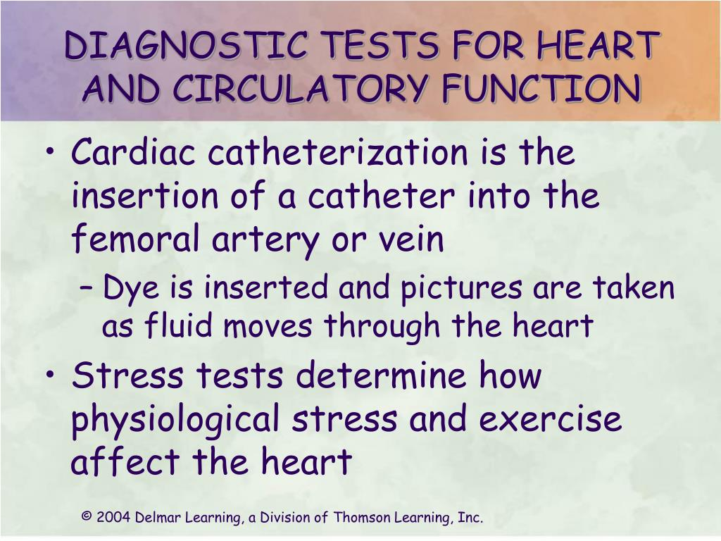 DIAGNOSTIC TESTS FOR HEART AND CIRCULATORY FUNCTION