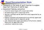 good documentation style33