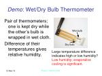 demo wet dry bulb thermometer