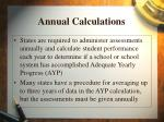 annual calculations