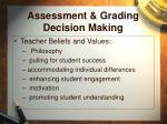 assessment grading decision making