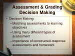 assessment grading decision making15