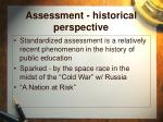assessment historical perspective