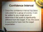 confidence interval33