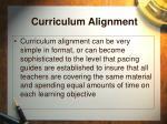 curriculum alignment35
