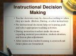 instructional decision making