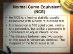 normal curve equivalent nce