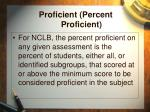 proficient percent proficient