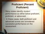 proficient percent proficient49