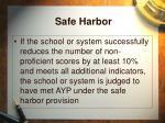 safe harbor51