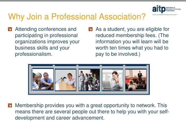 Why join a professional association
