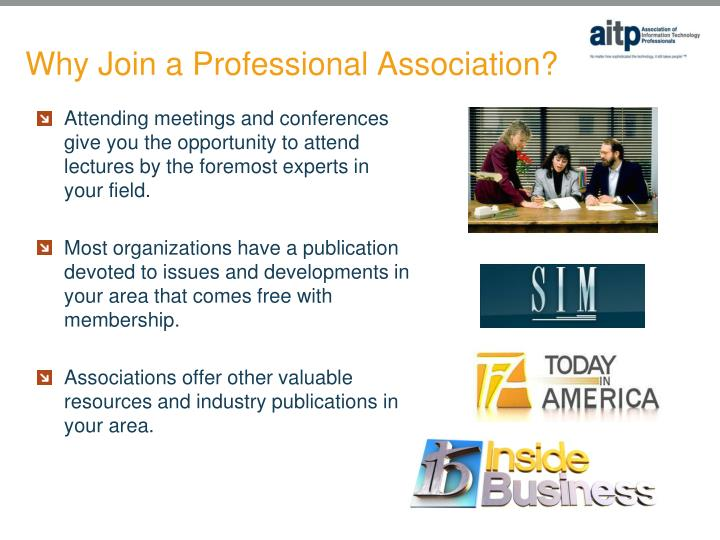 Why join a professional association3
