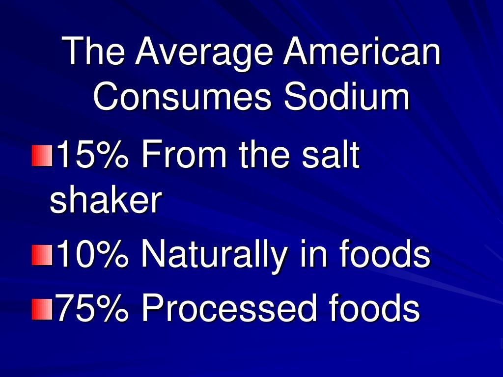 The Average American Consumes Sodium
