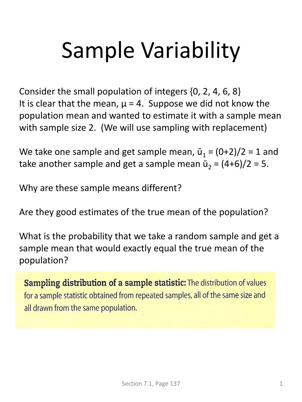 sample variability