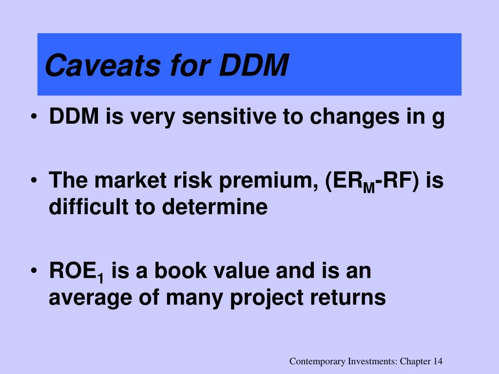 Caveats for DDM