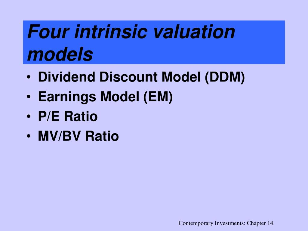 Four intrinsic valuation models